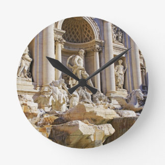 trevi fountain round clock