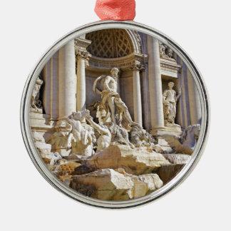 trevi fountain Silver-Colored round ornament