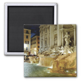 Trevi Fountain Square Magnet