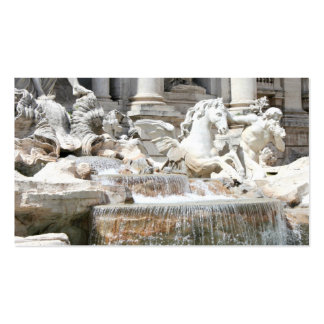 Trevi Fountain Triton and Horse in Rome, Italy Business Card