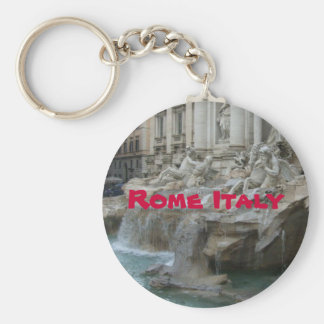 Trevis fountain Rome Basic Round Button Keychain