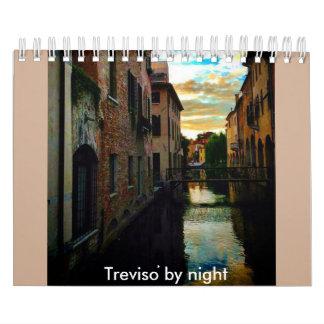 Treviso by night wall calendars