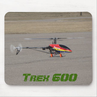 Trex 600 RC Helicopter Hovering Mouse Pad
