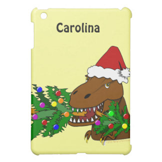 Trex Dinosaur Eating Christmas Tree Custom Case Case For The iPad Mini