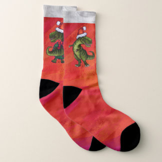 Trex Fun Christmas Feet 1