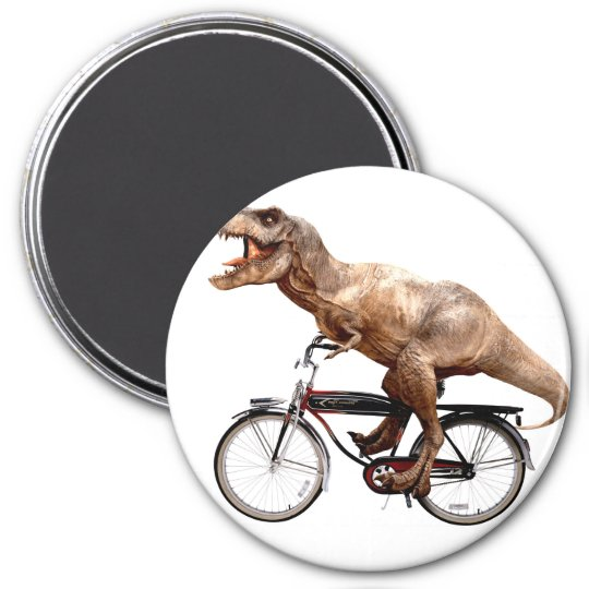Trex riding bike 3 inch round magnet