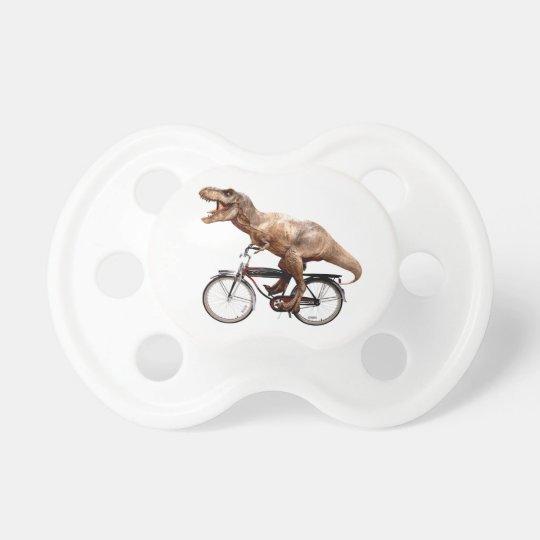 Trex riding bike baby pacifiers