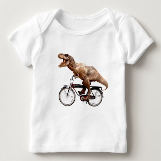 Trex riding bike baby T-Shirt