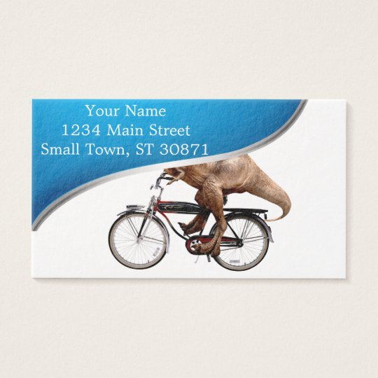 Trex riding bike business card