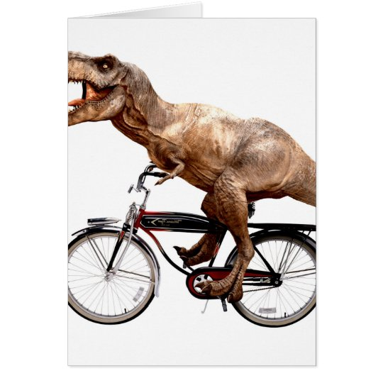 Trex riding bike card