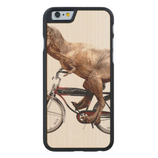 Trex riding bike carved maple iPhone 6 case