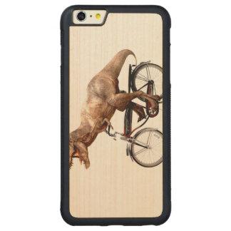 Trex riding bike carved maple iPhone 6 plus bumper case
