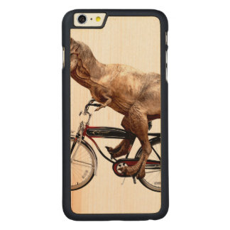 Trex riding bike carved maple iPhone 6 plus case