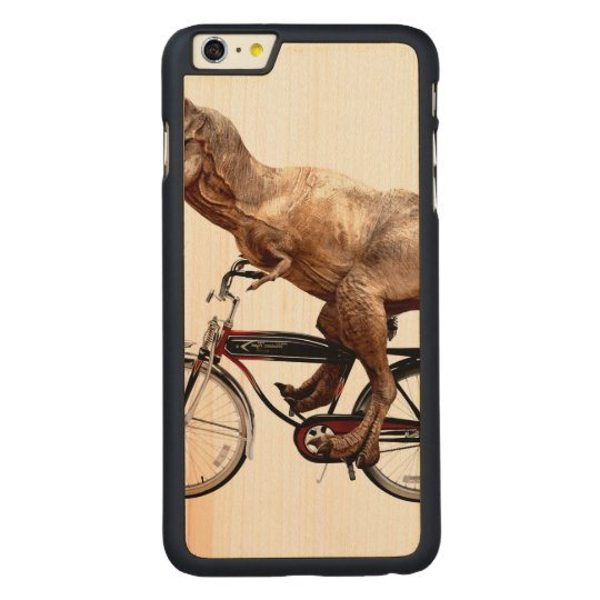 Trex riding bike carved® maple iPhone 6 plus case