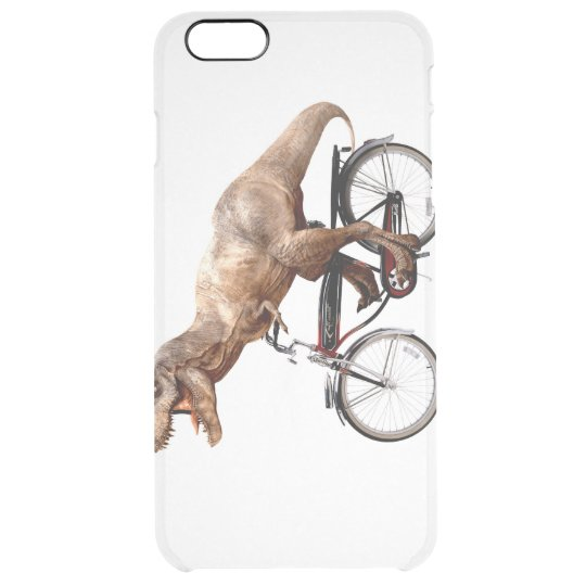 Trex riding bike clear iPhone 6 plus case