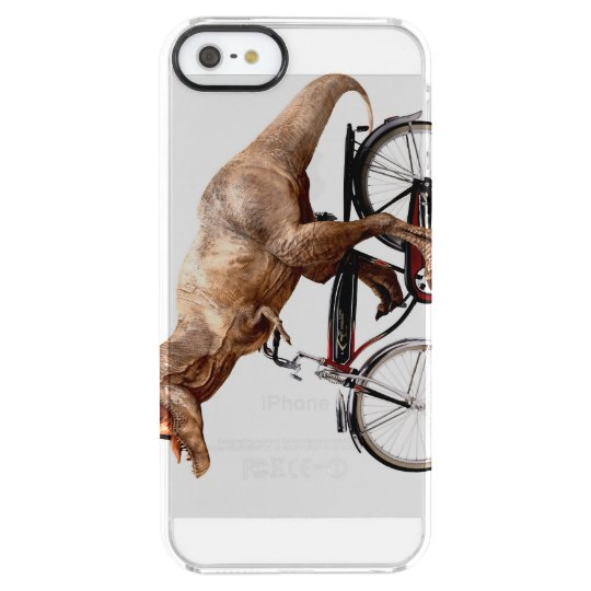 Trex riding bike clear iPhone SE/5/5s case