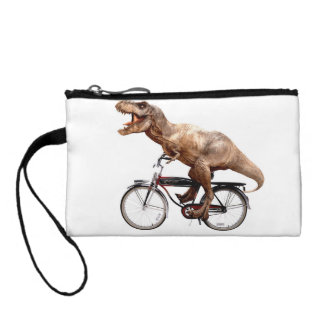 Trex riding bike coin purse