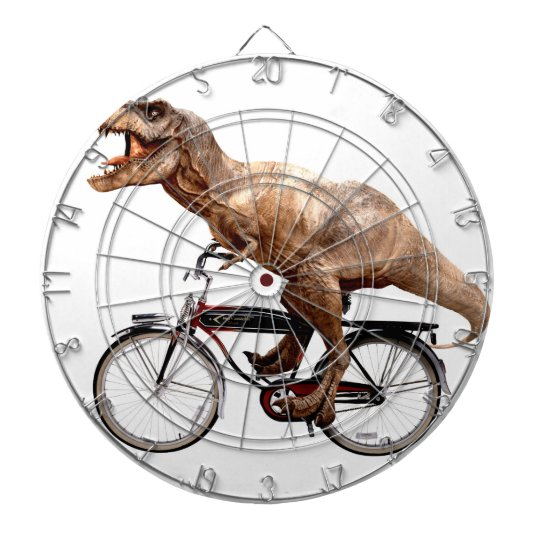 Trex riding bike dartboard