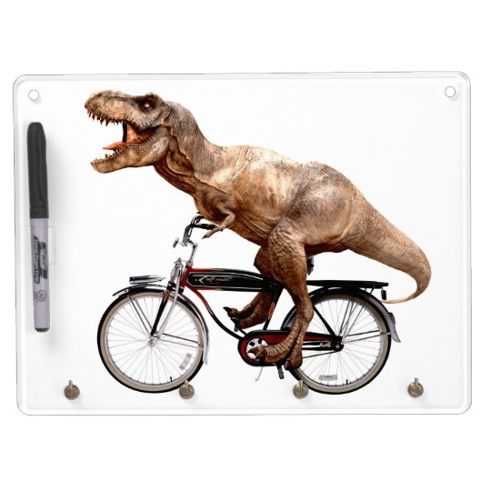 Trex riding bike dry erase board with keychain holder