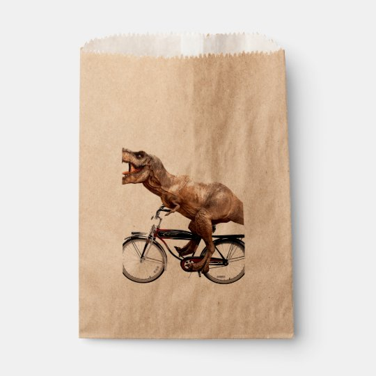 Trex riding bike favour bag
