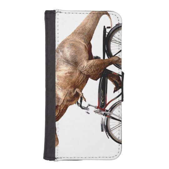 Trex riding bike iPhone SE/5/5s wallet case