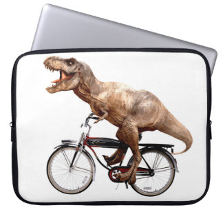 Trex riding bike laptop sleeve