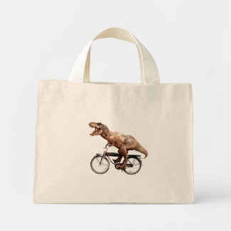 Trex riding bike mini tote bag