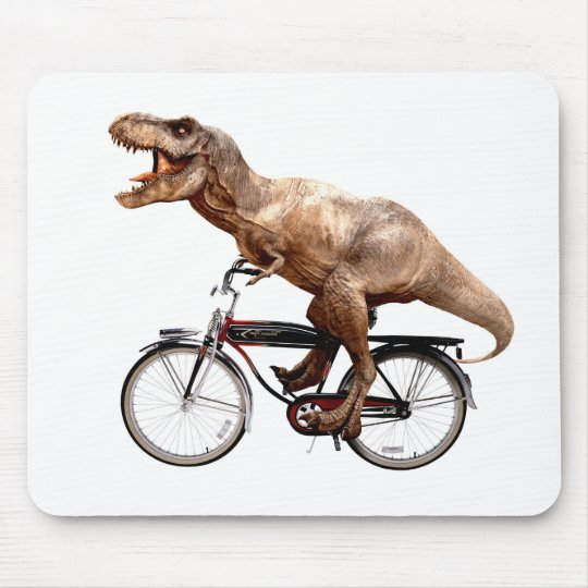 Trex riding bike mouse pad