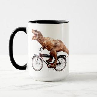 Trex riding bike mug