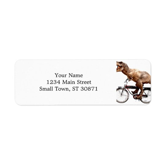 Trex riding bike return address label