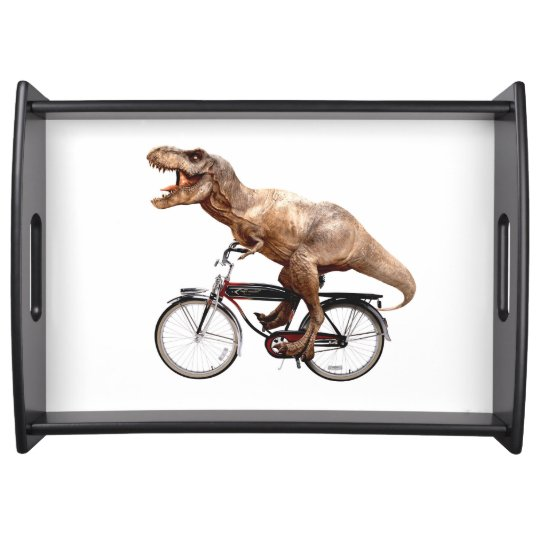 Trex riding bike serving tray