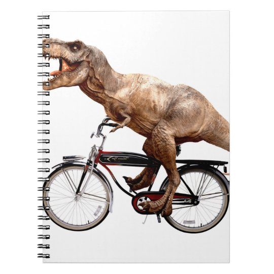 Trex riding bike spiral note books