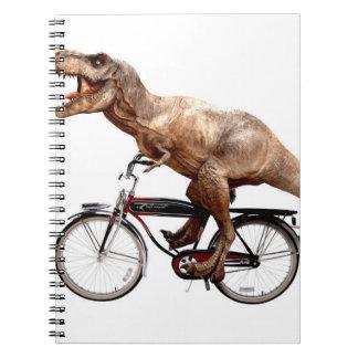 Trex riding bike spiral notebook