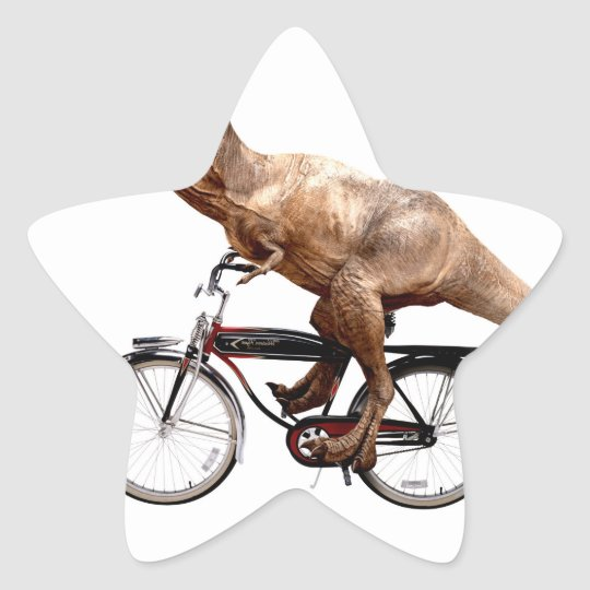Trex riding bike star sticker