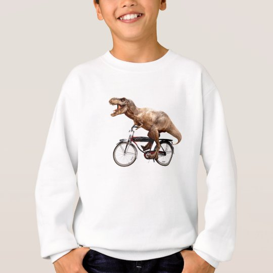 Trex riding bike sweatshirt