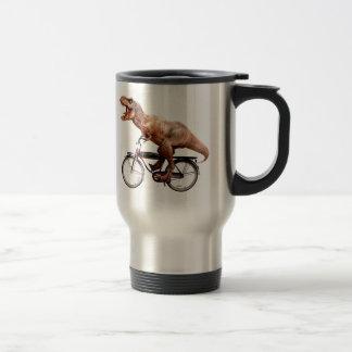 Trex riding bike travel mug