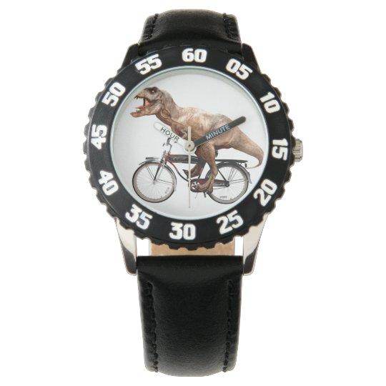 Trex riding bike wristwatch