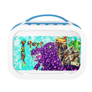 Trex rock lunch box