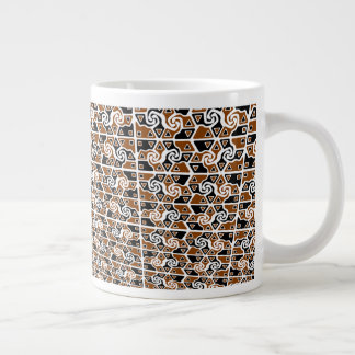 Tri-Arrow Pattern Large Coffee Mug