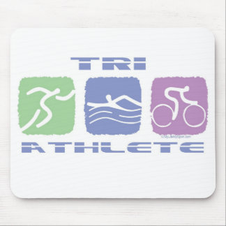 TRI ATHLETE MOUSE PAD