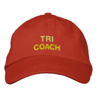 TRI COACH EMBROIDERED BASEBALL CAPS