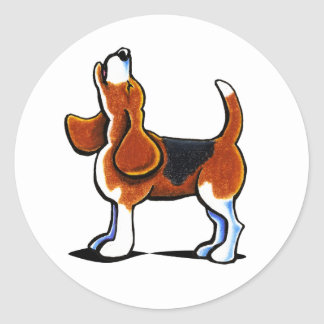 Tri-color Beagle Bay Round Sticker
