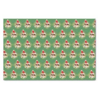 Tri-Color Corgi Santa Tissue Paper