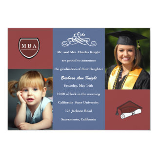 Tri Color Graduation Invitation / Announcement