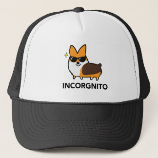 Tri-Color Incorgnito Corgi Trucker Hat