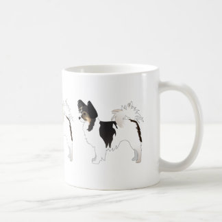 Tri-color Papillon Toy Dog Breed Illustration Coffee Mug