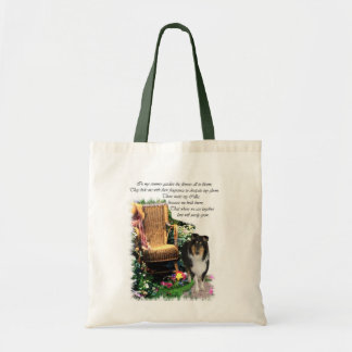 Tri-Color Rough Collie Art Gifts Tote Bag