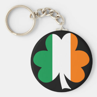 Tri-color Shamrock Keychain