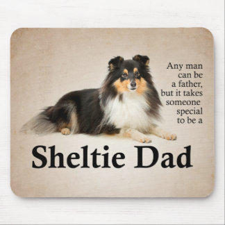 Tri-Color Sheltie Dad Mousepad