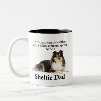 Tri-Color Sheltie Dad Mug